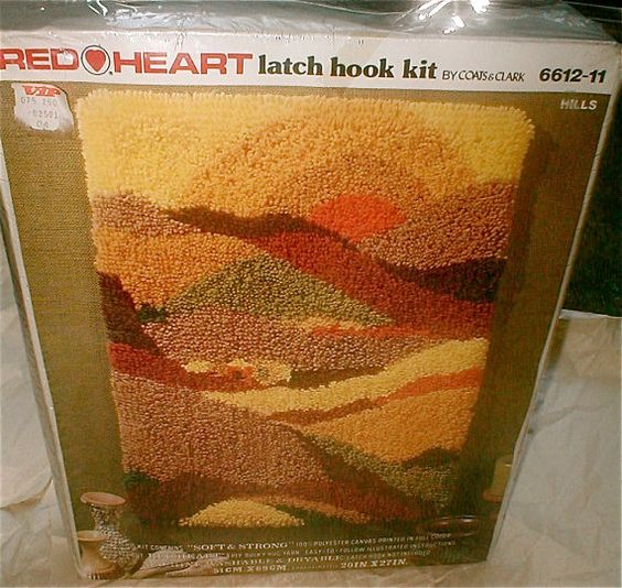 Red Hearts, 1970s And Latch Hook Rug Kits On Pinterest