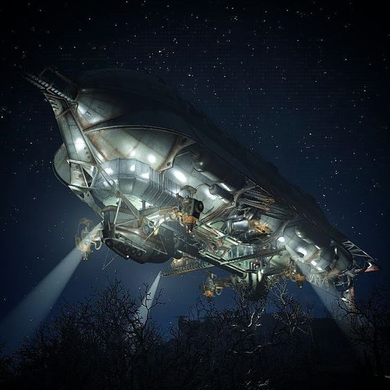Ooh look who's here! The Prydwen. #fallout #fallout4 #gaming #BOS #brotherhood #airship