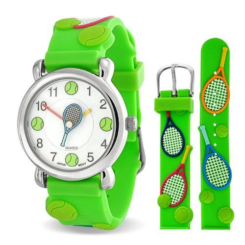 Bling Jewelry Green Analog Tennis Sports Childrens Watch Stainless Steel Back Bling Jewelry http://www.amazon.com/dp/B00IK01LLE/ref=cm_sw_r_pi_dp_N2vfvb0ZNJ7B6