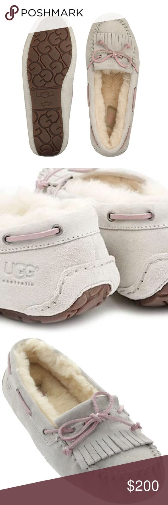 UGG Mandie moccasins Brand new in box.  Size : 6.   Authenticity guarnteed. Color ; cloud UGG Shoes Moccasins
