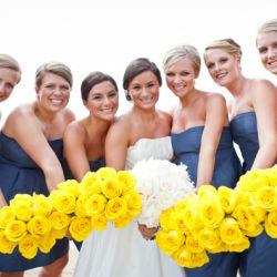 Navy, White & Yellow Nautical Wedding: Classy, Preppy and Fun!