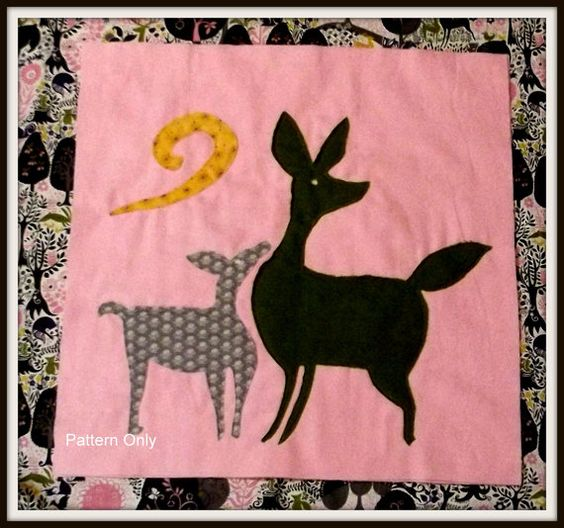 Rag Quilt Animal Patterns : Woodland Animal Quilt Block Pattern
