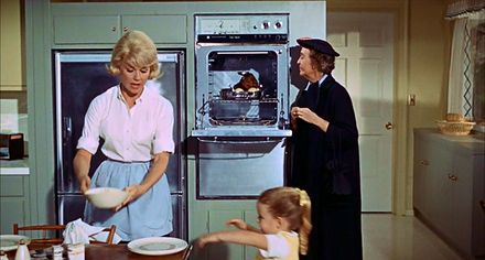 1963 suburban kitchen in the film The Thrill Of It All...: