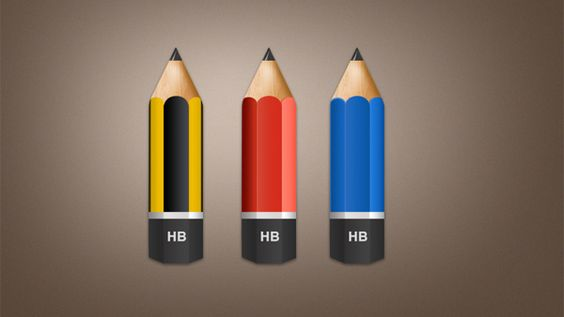 3 Realistic HB Wooden Pencil Icons Set PSD - http://www.dawnbrushes.com/3-realistic-hb-wooden-pencil-icons-set-psd/