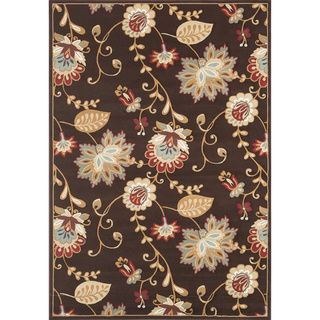 Green allows us to pull in other colors. @Overstock.com - Chime Coffee Area Rug (2'3 x 3'9) - This Chime power-loomed area rug offers style and design in a unique transitional and contemporary floral pattern. Featuring a rich coffee color, this rug will add to any room's decor.  http://www.overstock.com/Home-Garden/Chime-Coffee-Area-Rug-23-x-39/6131313/product.html?CID=214117 $31.45