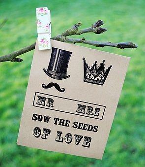 Steampunk inspirado semillas Paquete favor de la boda - notonthehighstreet.com