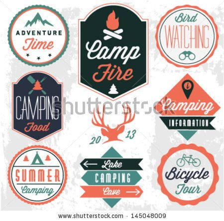 Badges, Camping and Vintage style on Pinterest