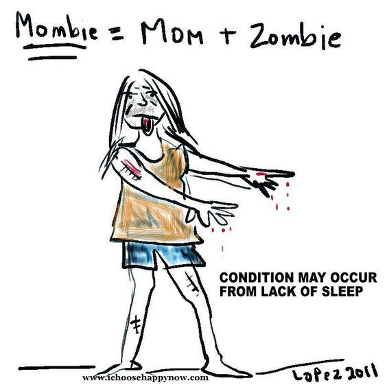Image result for new mom feels like zombie