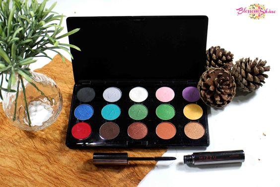 Inez Cosmetic Professional Eyeshadow Palette & Mizzu Cosmetic Lengthening Mascara