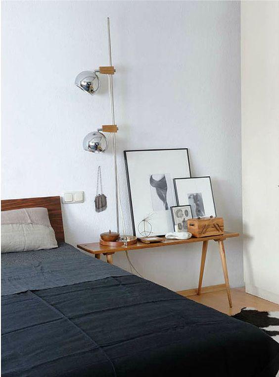 bedside table + artwork