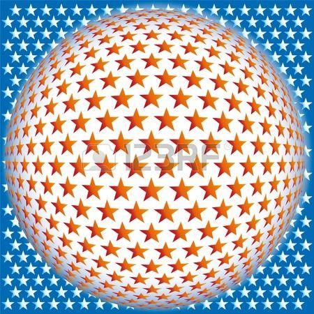 Bola estrella fondo abstracto mosaico 3D vector ilustraci n  Foto de archivo