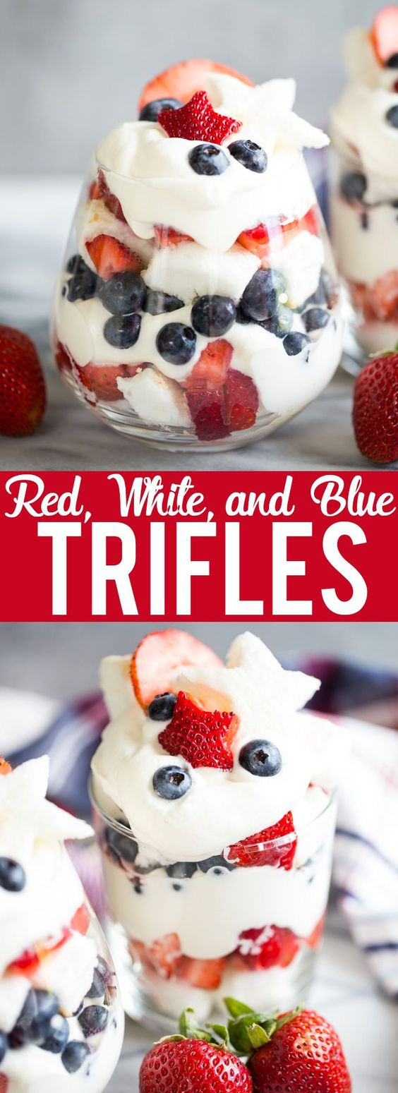 Red, White, and Blue Trifles