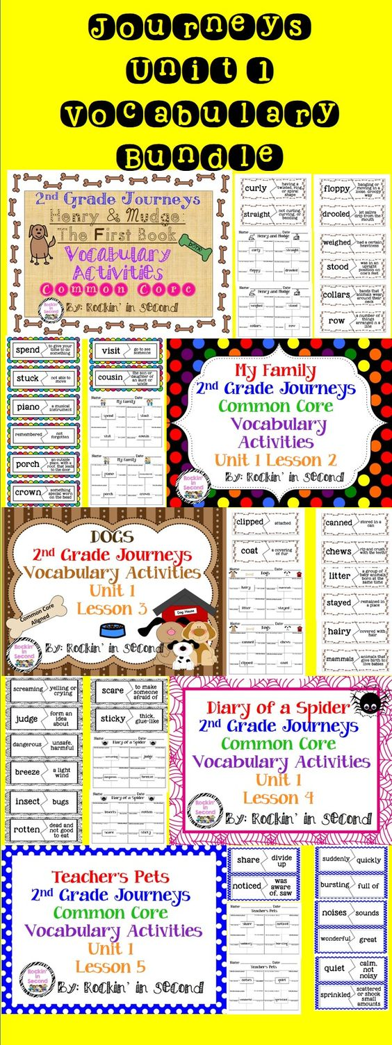 Worksheet 2nd Grade Vocabulary pinterest the worlds catalog of ideas journeys unit 1 bundle vocabulary activities 2nd grade in this you will receive for