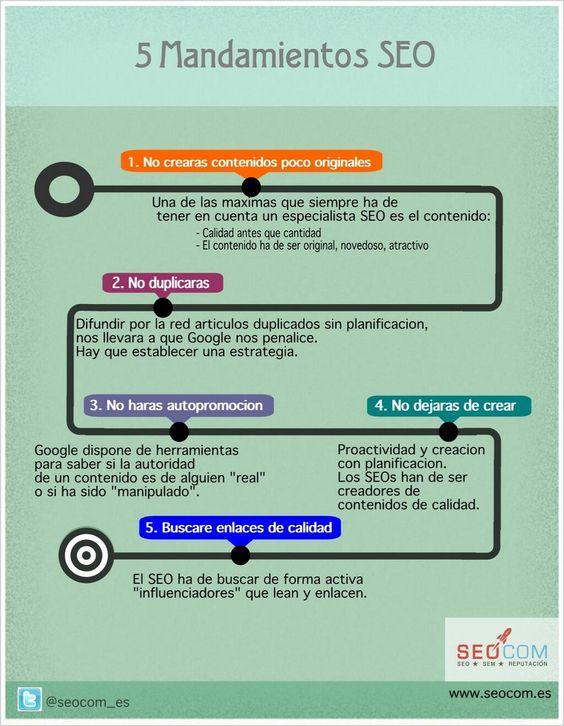Los 5 mandamientos del SEO #infografia
