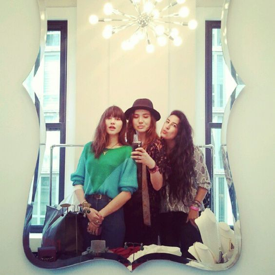 INK361 - Photo - My fave girls @natalieoffduty @taisa_veras getting all swagged up. #dbafwlounge