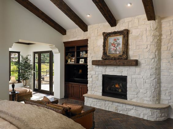 Master Suite Fireplace and Retreat by Viaggio Homes