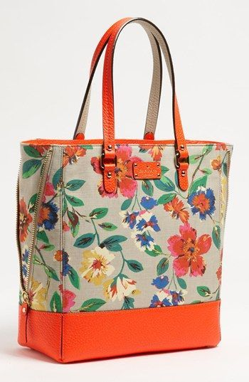 Who doesn't love florals for spring? This lovely wildflower print tote from kate spade new york 'grove court is a darling addition to your accessories closet this spring!