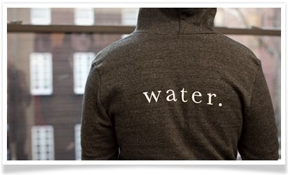 charity: water hoodie. Hoodies are made by Alternative Apparel / Alternative Earth. Profits fund charity: water's operating costs and help us grow.