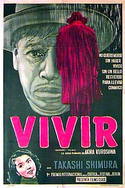 IKIRU (Dir. Akira Kurosawa, 1952) Spanish poster