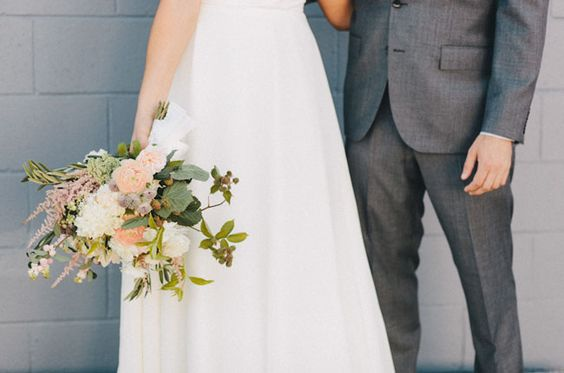 A Geometric and Romantic Wedding: Pamela + Eric