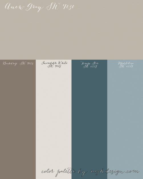 Anew Gray Sw 7030 With A Complementary Color Scheme Anew Gray
