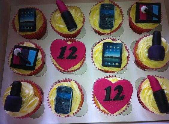 I pad, blackberry & makeup cupcakes