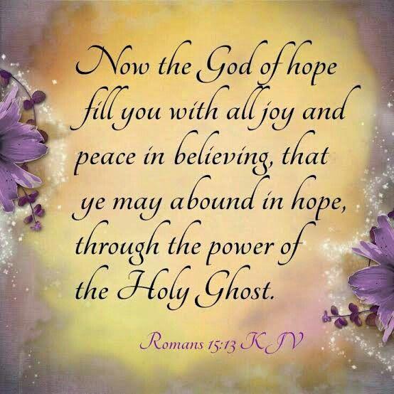 Romans 15:13 KJV | Kjv, Bible king james version, Holy bible king james