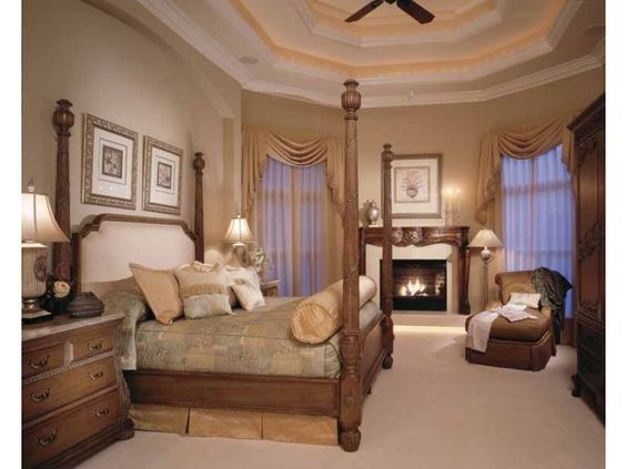 Beautiful Master Bedroom With Fireplace Dream Home