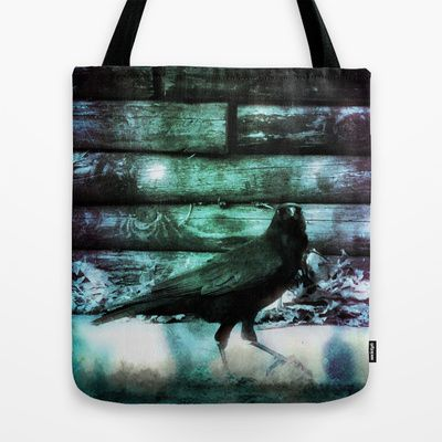 I Am Crow Tote Bag #blue #green #black