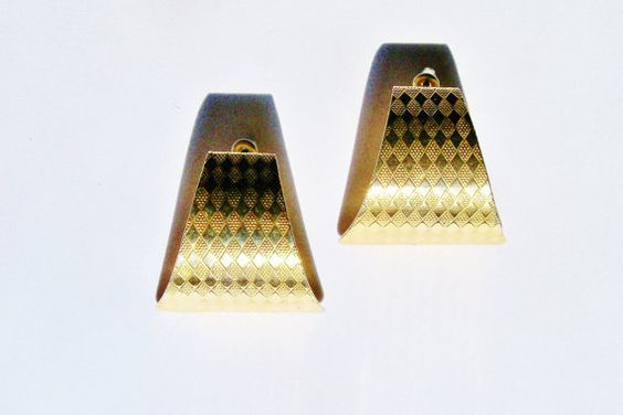 Vintage Earrings Gold Tone  Wedding Jewelry by YoursOccasionally, $12.00