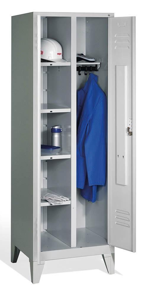 Wasche Garderobenschrank Mit Sockel Bth 610x500x1800mm Garderobe Schrank Garderobenschrank Schliessfacher