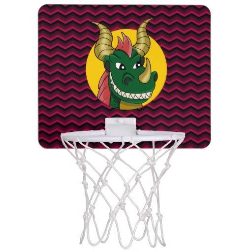 Green dragon cartoon mini basketball hoop