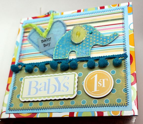 """layouts for baby mini scrapbook 