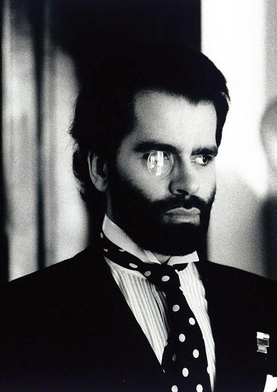 Karl Lagerfeld By Helmut Newton.
