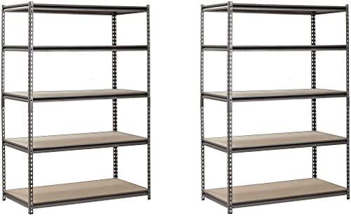 Amazing Offer On Edsal Heavy Duty Garage Shelf Steel Metal Storage 5 Level Adjustable Shelves Unit 72 H X 48 W X 24 Deep Pack 2 Online In 2020 Adjustable Shelving Queen Memory Foam Mattress Shelf Unit