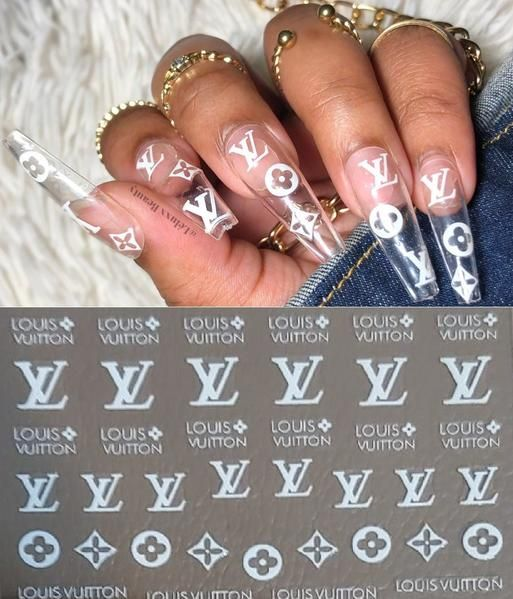 Fanzz 2019 Lv Inspired 3d Nail Art Stickers Self Adhesive Decals Nails Art Girl Polish Cute Nail Decals Diy Nail Stickers Decals Nail Stickers Designs