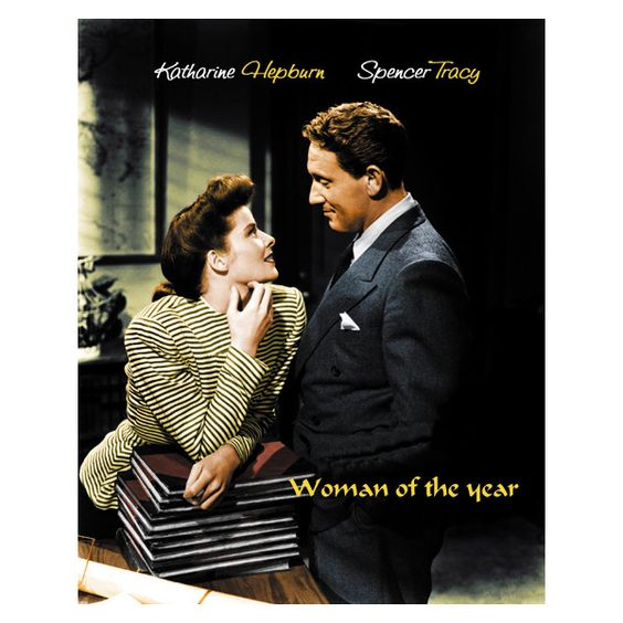 Woman of the year Katharine Hepburn movie poster #3 ❤ liked on Polyvore