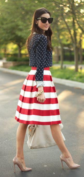 stars + stripes: Nude Shoes, July Fashion, Pumps American, Fashion Forward, American Girl, Americanflag, Louboutin Pumps