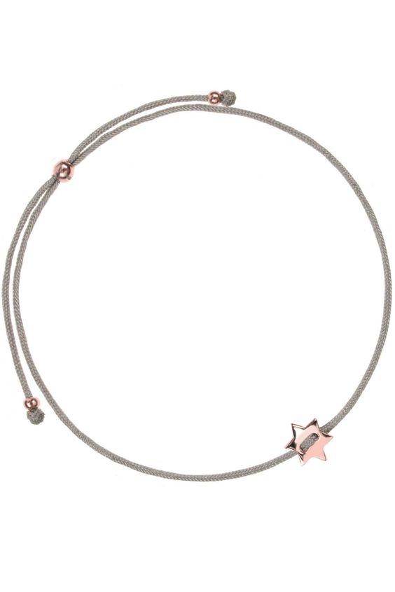 stardust textil armband grau mit einem stern