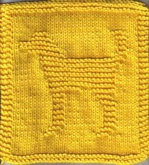 Knitted Dog Square
