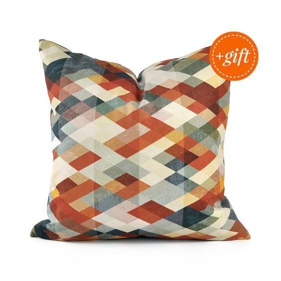 gray sofa orange pillows - photo #35