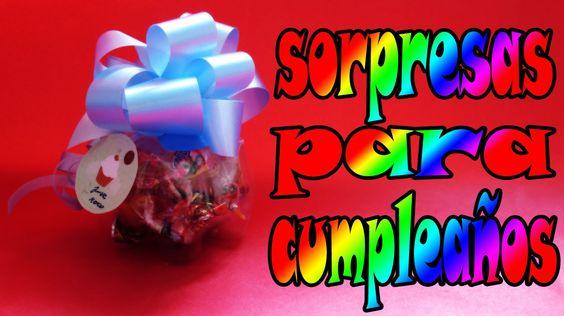 Reciclaje: Sorpresas para cumpleaños