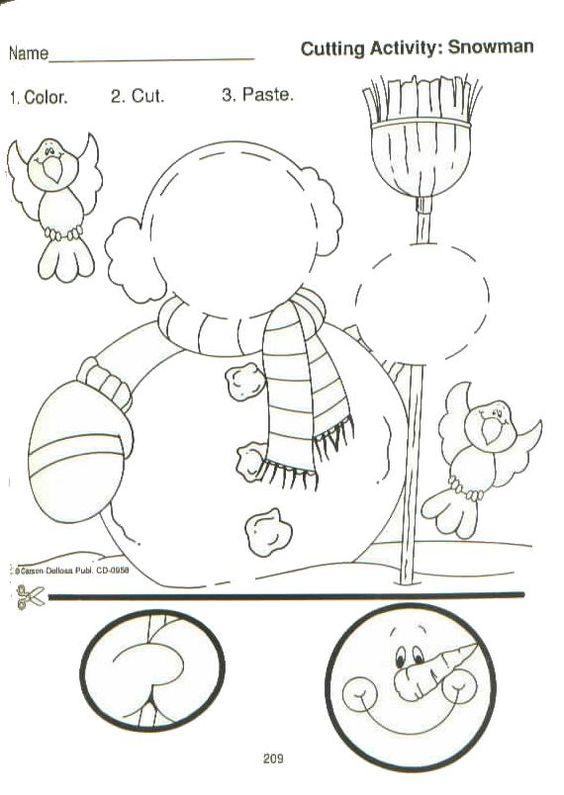 Free Worksheets Snowman Worksheets Kindergarten Free Math – Snowman Worksheets Kindergarten