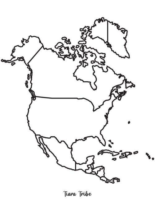 North America Coloring Map World Map Coloring Pages Now With Continents In 2020 South America Map North America Map World Map Coloring Page