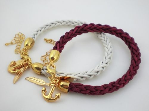 Lederarmband herren selber machen  DIY-Anleitung: Armband aus Leder flechten via DaWanda.com | Selber ...