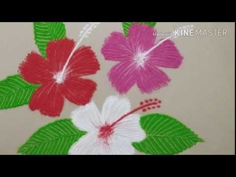 Easy Hibiscus Flower Rangoli For Everyday Rangoli Designs Youtube Rangoli Designs Flower Rangoli Beautiful Rangoli Designs