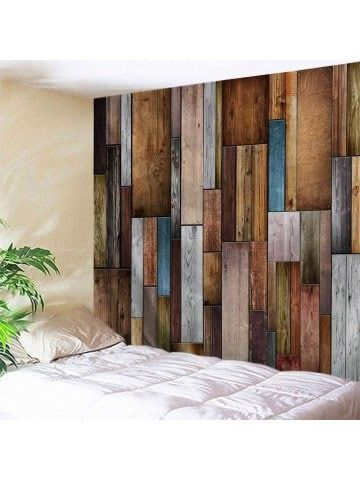 Vintage Wood Texture Wall Decoration Tapestry Textured Walls