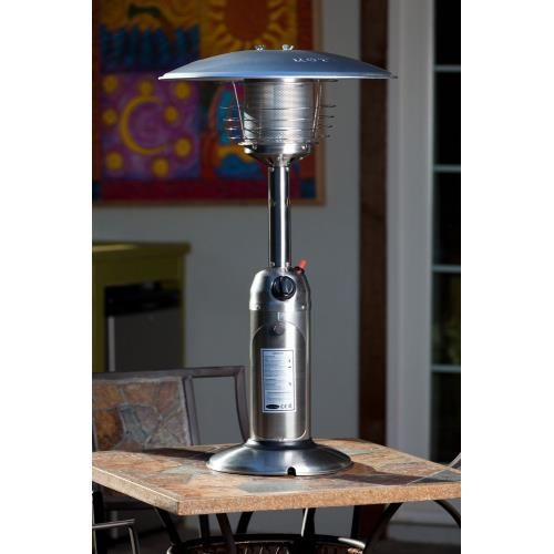 Fire Sense 60262 Table Top Patio Heater Provides Warmth While Adding Ambience To Any Outdoor T Tabletop Patio Heater Patio Heater Stainless Steel Table Top