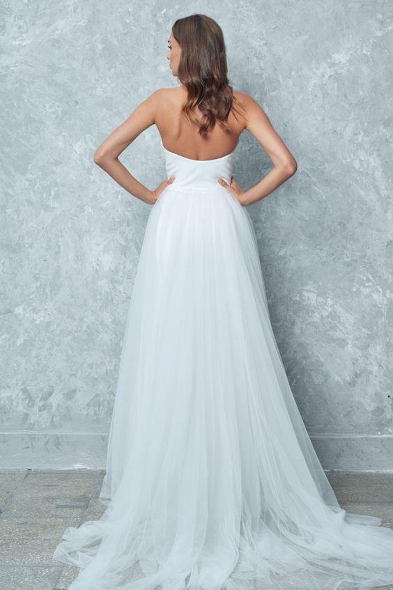 Kolekcja Slubna 2019 Anna Sarnowska Studio Wedding Dresses Strapless Wedding Dress Dresses