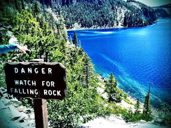A one-mile hike leads you to the base of Crater Lake. Along the way, the views will astound you.